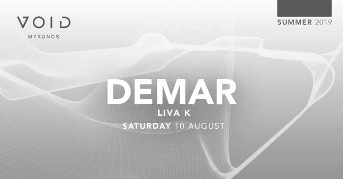 Void club Mykonos presents hip hop night with Demar and Liva K on Saturday August 10