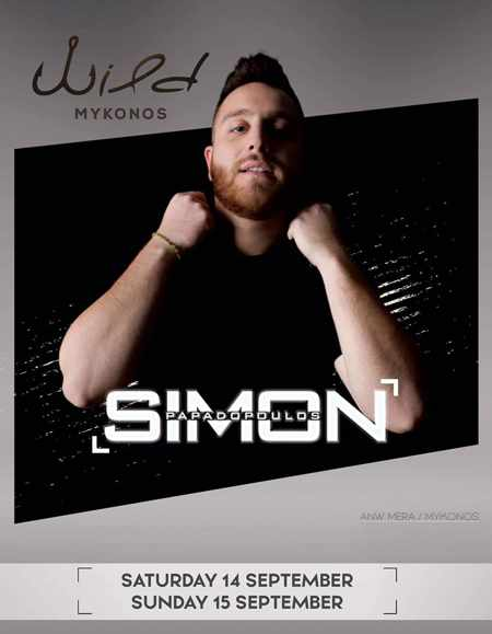 Wild Cafe Bar Mykonos September 14 & 15 parties with DJ Simon Papadopoulos