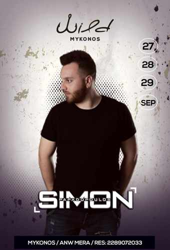 Wild Cafe Bar Mykonos September 27 28 and 29 parties with DJ Simon Papadopoulos
