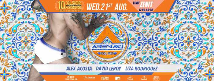 XLSIOR Festival Mykonos Arena pool party on Wednesday August 21