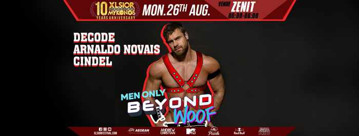 XLSIOR Festival Mykonos Beyond Woof Party Monday August 26