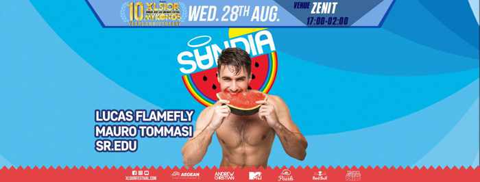 XLSIOR Festival Mykonos Sandia closing party on Wednesday August 28