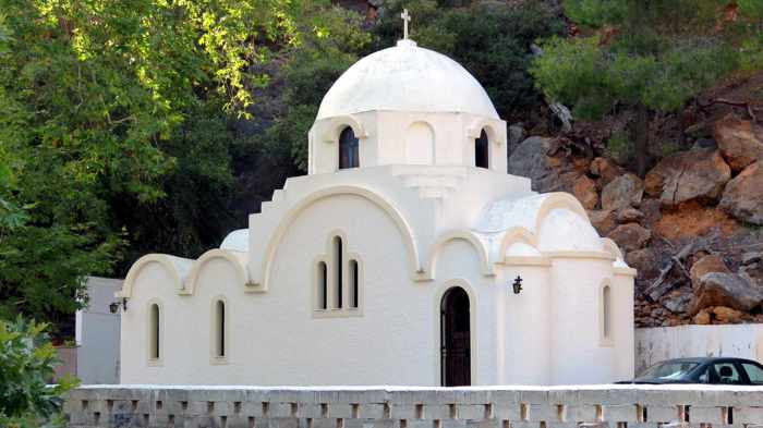 Greece, Greek island, Saronic island, Poros, Poros Greece, Poros island, church, Orthodox church, building, architecture,