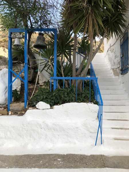 Greece, Peloponnese, Nafplio, Karathona, Karathona beach, Agios Konstantinos Church, church bell, bell,