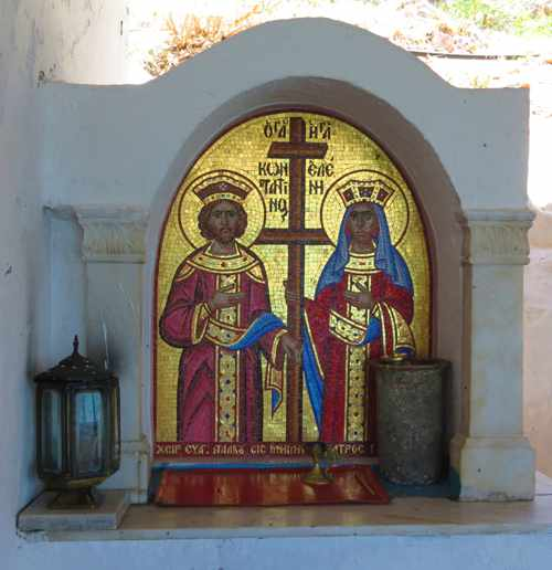 Greece, Peloponnese, Nafplio, Karathona, Agios Konstantinos Church, icons, religious icons, church icons,