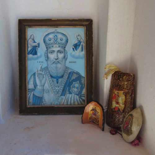 Greece, Peloponnese, Karathona, path, trail, coast, church path, Agios Nikolaos Church, Agios Nikolaos Church at Karathona, icons, church icons, religious icons,