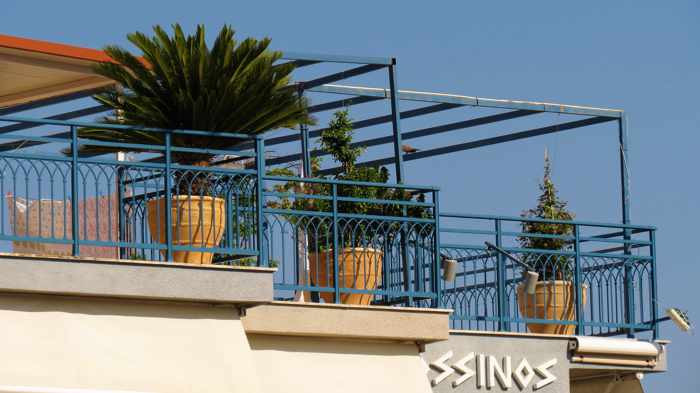 Greece, Greek island, Saronic island, Poros island, Poros, Poros Greece, balconies, terraces, Drossinos Studios,