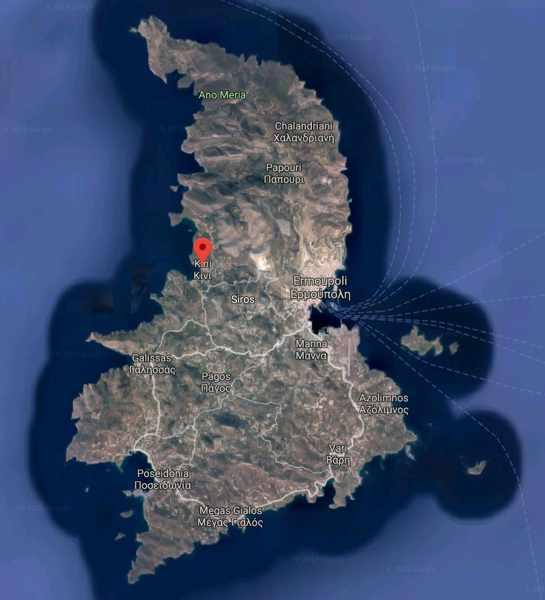 Greece, Greek island, Siros, Syros, Syros island, island, Google map,