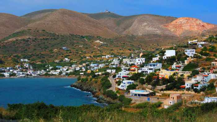 Greece, Greek Islands, Cyclades, Siros, Syros, Kini Bay, Kini beach, Kini village, landscape, coast, seaside,