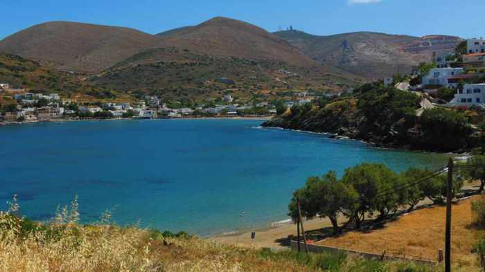 Greece,Greek Islands, Cyclades, Siros, Syros, Syros island, Kini, Kini Bay, Kini Bay Syros, coast, seaside, beach, Lotos Beach, Lotos Beach Syros,
