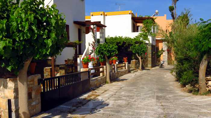 Greece, Greek Islands, Cyclades, Siros, Syros, Syros island, Kini, Kini Bay, Kini Bay Syros, village, street, lane, alley, houses, buildings