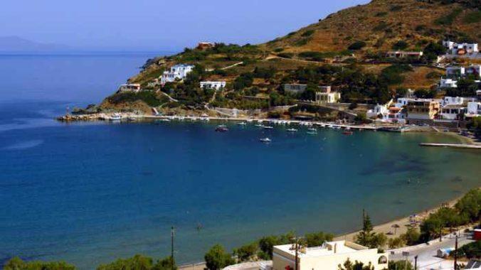 Greece, Greek Islands, Cyclades, Siros, Syros, Kini Bay, Kini beach, Kini village, landscape, coast, seaside, beach, Kini Beach, Kini Beach Syros,