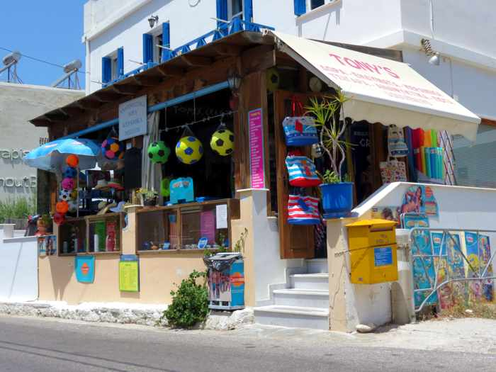 Greece, Greek islands, Cyclades, Siros, Syros, Syros island, Kini, Kini Bay, Kini Bay Syros, market, shop, store, Tonys Market Kini Bay, minimarket,