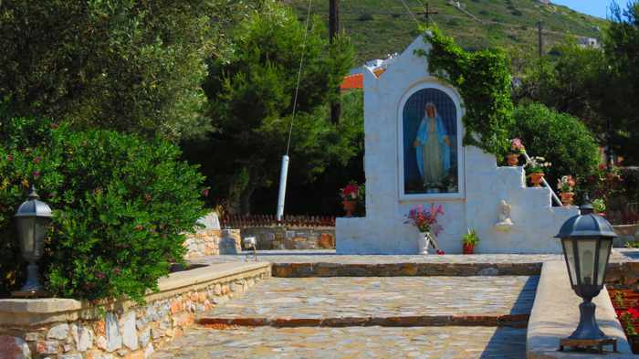 Greece, Greek Islands, Cyclades, Siros,Syros, Syros island, Kini, Kini Bay, Kini Bay Syros, icon, church icon,
