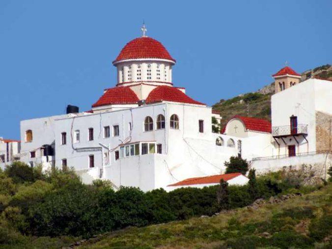 Greece, Greek islands, Cyclades, Siros, Syros, Syros island, Kini, Kini Bay, Kini Syros, Kini village, monastery, Agia Varvara Monastery Syros,