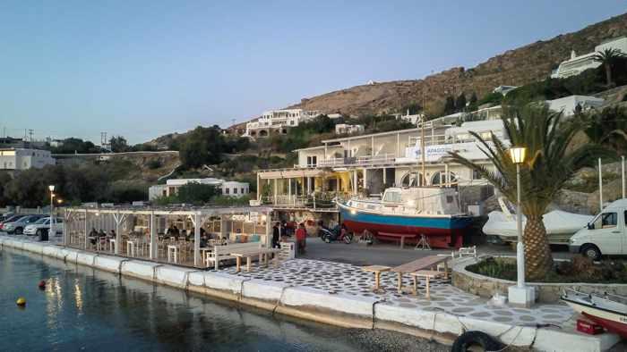 Greece, Greek islands, Cyclades, Mikonos, Mykonos, Ornos, restaurant, seafood restaurant, estiatorio, Greek restaurant, Apaggio, Apaggio Mykonos, Apaggio restaurant Mykonos