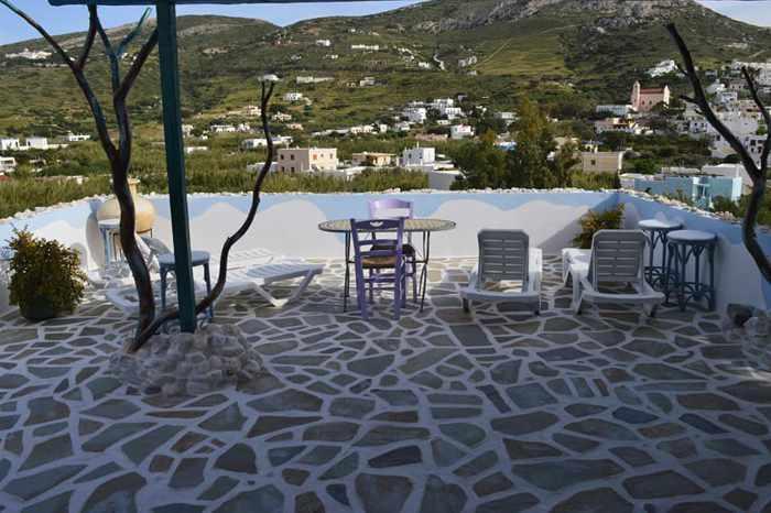 Greece, Greek islands, Cyclades, Siros, Syros, Syros island, Kini Bay, Kini, Kini Bay on Syros, accommodations, Aposperitis Rooms, Aposperitis Rooms Kini Bay Syros, room, apartment, terrace, patio, balcony, veranda