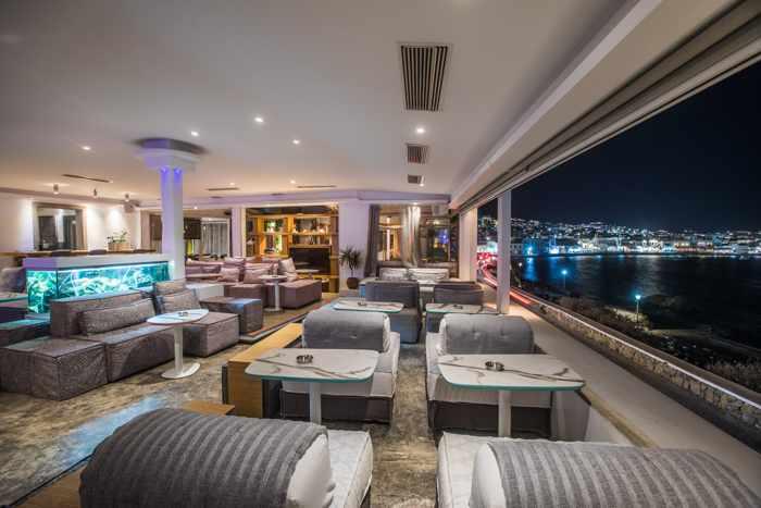 Greece, Greek islands, Cyclades, Mikonos, Mykonos, Mykonos Town, bar, restaurant, lounge, Blu Blu Lounge, Blu Blu Lounge Mykonos,