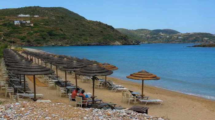 Greece, Greek islands, Cyclades, Siros, Syros, Syros island, Delfini, Delfini beach, Delphini beach, Delfini beach, Delphini beach Syros, Delfini beach Syros, sandy beach