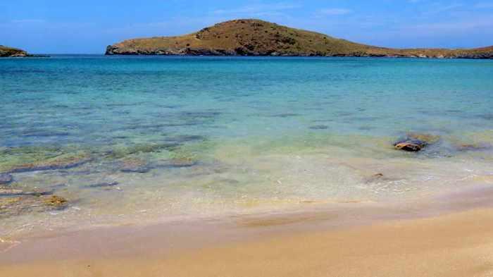 Greece, Greek islands, Cyclades, Siros, Syros, Syros island, Delphini beach, Delfini beach, Delphini beach Syros, Delfini beach Syros, sandy beach