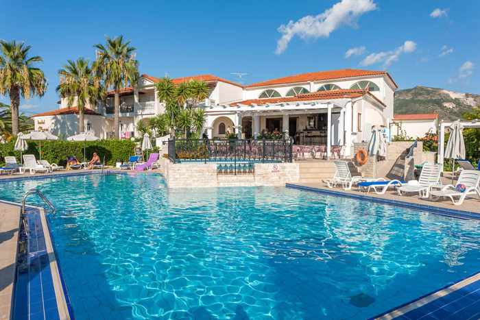 Greece, Greek Islands, Ionian islands, Zante, Zakynthos island, Kalamaki, Hotel Venus & Suites Zakynthos, hotel, swimming pool