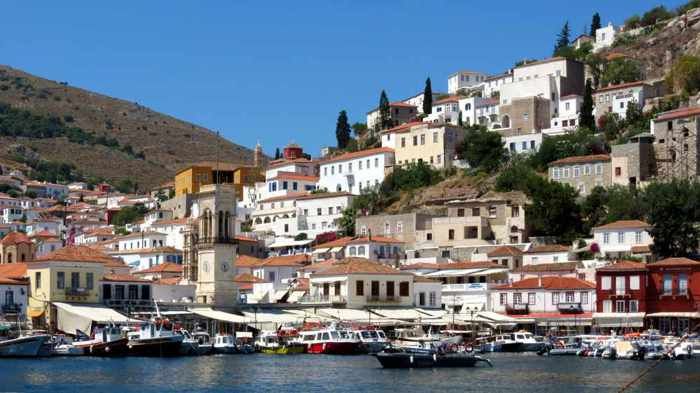 Greece, Greek islands, Saronic islands, Argosaronic islands, island, Hydra, Hydra island, Hydra Greece, Ydra, Ydra island, Hydra Town, town, village, harbour, hillside