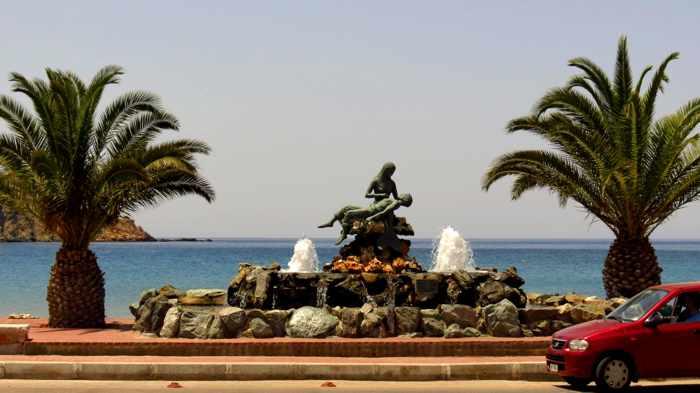 Greece, Greek islands, Siros, Syros, Syros island, Kini, Kini village, Kini Syros, Kini beach, monument, landmark, attraction, fountain, memorial