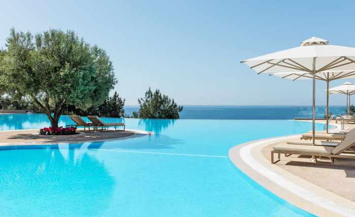 Greece, Greece mainland, Halkidiki, Ikos Oceania resort, Ikos resort, pool, infinity pool, swimming pool