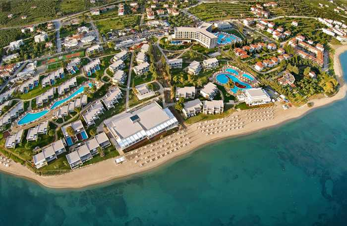 Greece, Greece mainland, Halkidiki, Ikos Olivia, Ikos resort, Ikos Olivia Resort Greece, aerial view, sea, coast, resort, hotel,