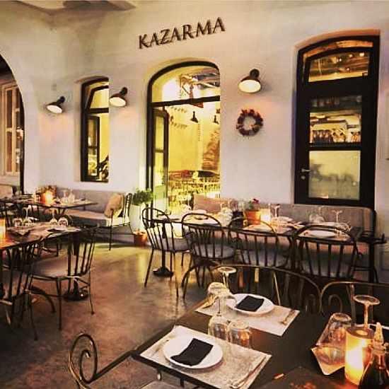 Greece, Greek Islands, Cyclades, Mikonos, Mykonos, Mykonos Town, restaurant, taverna,Kazarma, Kazarma restaurant, Kazarma Mykonos