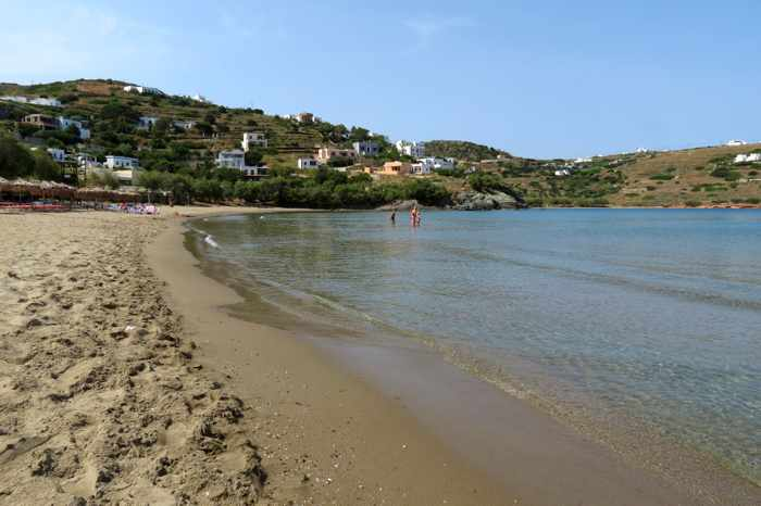 Greece, Greek islands, Siros, Syros, Syros island, Kini, Kini beach, Kini beach Syros, Kini Syros, beach, organized beach,sandy beach,
