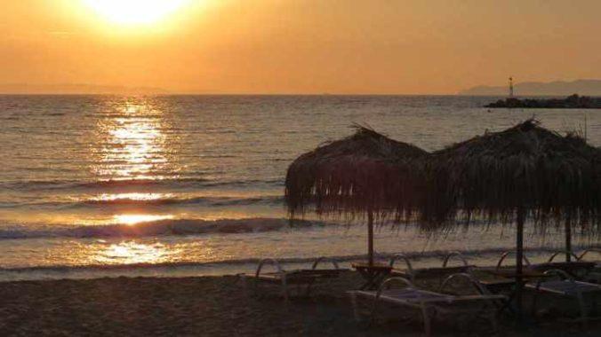 Greece, Greek islands, Siros, Syros, Syros island, Kini, Kini beach, Kini beach Syros, Kini Syros, beach, organized beach,sandy beach,sunset