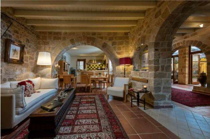 Greece, Greek islands, Dodecanese, Rhodes, Rodos, Rhodes Town, hotel, Kokkini Porta Rossa, hotel interior,