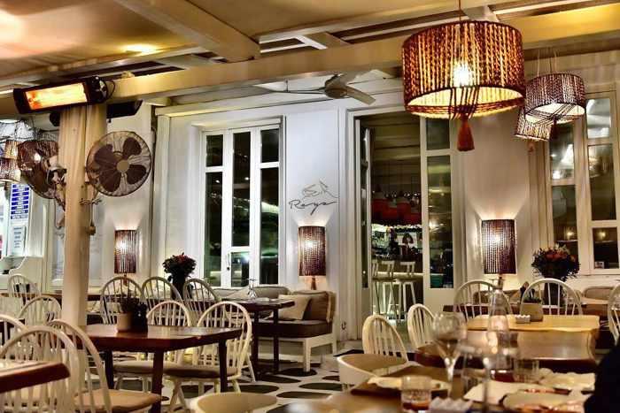 Greece, Greek Islands, Cyclades, Mikonos, Mykonos, Mykonos Town, restaurant, taverna, Raya, Raya Mykonos, Raya restaurant Mykonos,