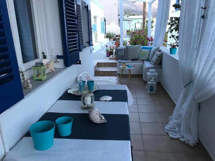 Greece, Greek islands, Cyclades, Siros, Syros, Syros island, Kini Bay, Kini, Kini Bay on Syros, accommodations, Morpheus Rooms, Morpheus Rooms Syros, Morpheus Rooms Kini Bay Syros, terrace,patio, veranda
