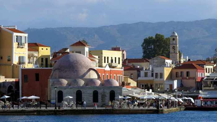 Greece, Greek islands, Crete,Crete island, Crete Greece, Chania, Chania Crete, harbour, port,, Chania harbour,