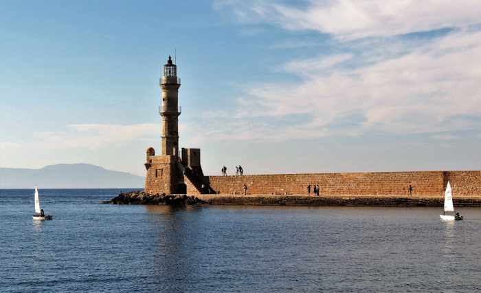 Greece, Greek islands, Crete,Crete island, Crete Greece, Chania, Chania Crete, harbour, port, lighthouse, Chania lighthouse,