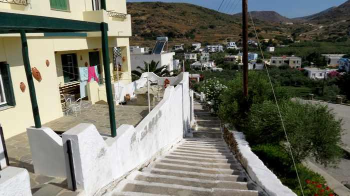 Greece, Greek Islands, Cyclades, Siros, Syros, Syros island, Kini, Kini Bay, Kini Bay Syros, village, street, lane, alley, houses, buildings