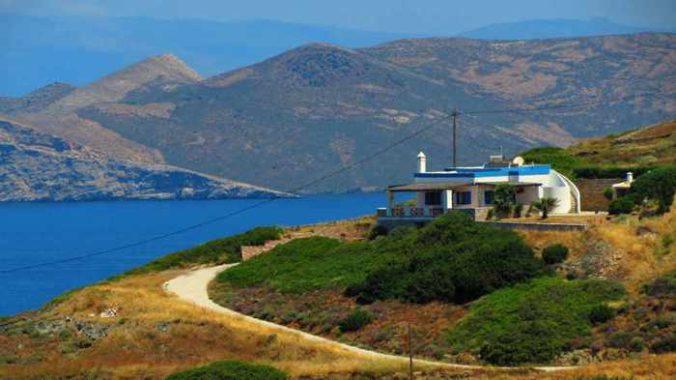 Greece, Greek islands, Cyclades, Siros, Syros, Syros island, buildings, houses, villas,