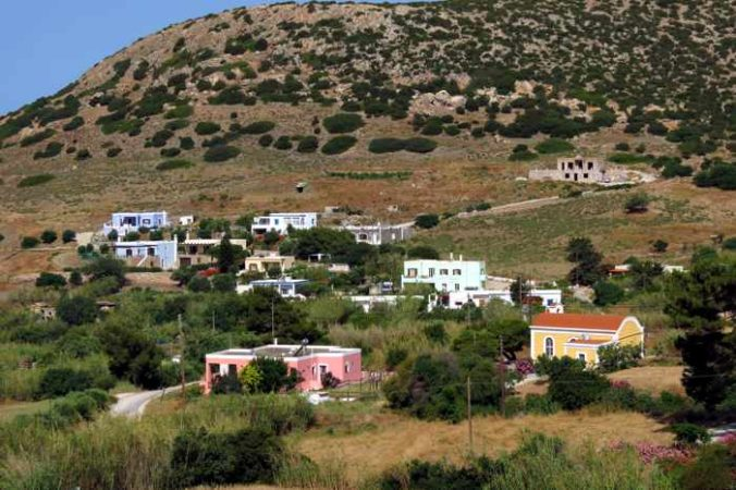Greece, Greek islands, Cyclades, Siros, Syros,Syros island, trail, footpath, path, walking route, hiking trail, hiking, landscape, buildings, houses, villas