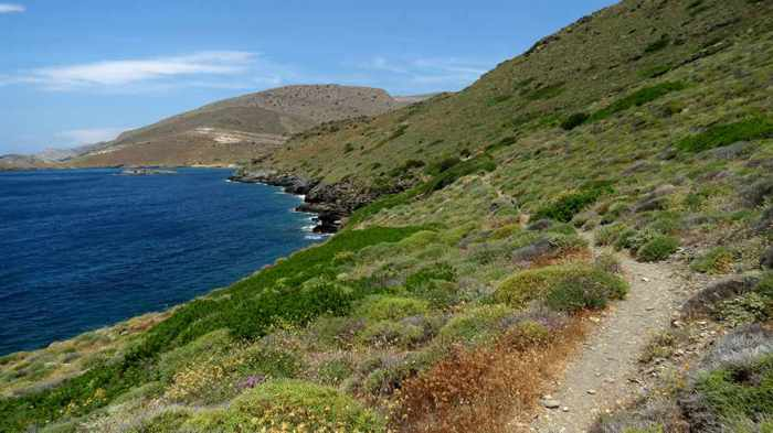 Greece, Greek islands, Cyclades, Siros, Syros,Syros island, trail, footpath, path, walking route, hiking trail, hiking,