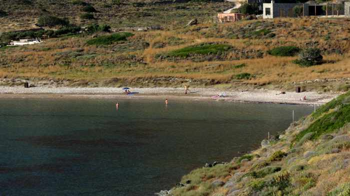 Greece, Greek islands, Cyclades, Siros, Syros, Syros island, Delphini beach, Delfini beach, Delphini beach Syros, Delfini beach Syros, sandy beach