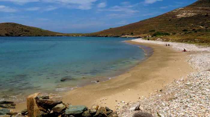 Greece, Greek islands, Cyclades, Siros, Syros, Syros island, Delfini, Delfini beach, Delphini beach, Delfini beach, Delphini beach Syros, Delfini beach Syros, sandy beach, nude beach, nudist beach