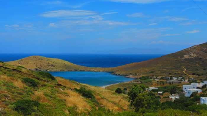 Greece, Greek islands, Cyclades, Siros, Syros, Syros island, Delfini beach, Delfini beach, Delphini beach Syros, Delfini beach Syros, sandy beach, coast