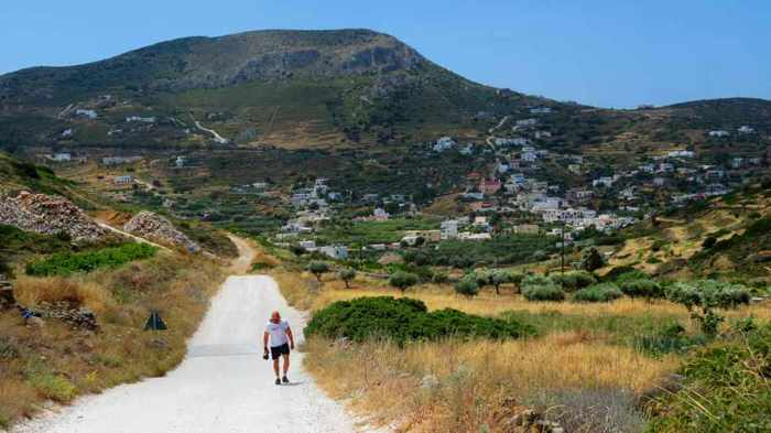 Greece, Greek islands, Cyclades, Siros, Syros, Syros island, Kini, Kini Bay, Kini Syros, Delfini, Delfini Syros, road, walking route, walking, hiking