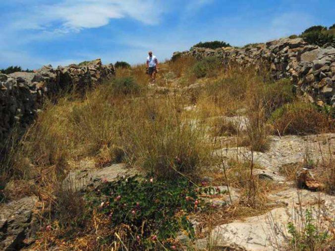 Greece, Greek islands, Cyclades, Siros, Syros,Syros island, trail, footpath, path, walking route, hiking trail, hiking, landscape