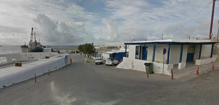 Greece, Greek islands, Cyclades, Mikonos, Mykonos, port, harbour, Mykonos Old Port, Google Streetview photo of Mykonos Old Port