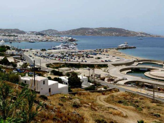 Greece, Greek island, Cyclades, Mikonos, Mykonos, Mykonos Old Port, Mykonos New Port, Mykonos Town port, Tourlos, Tourlos port, ferry travel, ferry port, Mykonos ferry port, harbour, Mykonos Old Port, Mykonos Town,