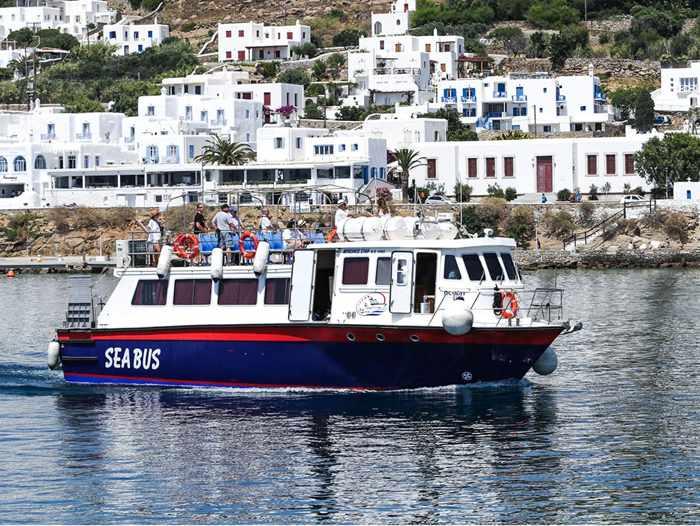 Greece, Greek islands, Cyclades, Mikonos, Mykonos, Mykonos SeaBus, SeaBus Mykonos, Mykonos water taxi, Mykonos water shuttle, Mykonos port water taxi, Delos Tours,