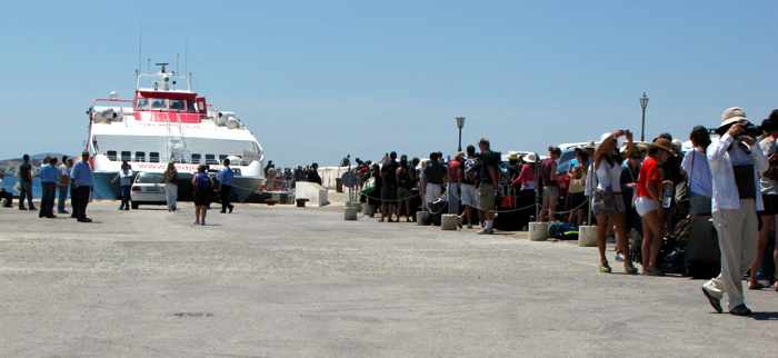 Greece, Greek island, Cyclades, Mikonos, Mykonos, Mykonos ports, Mykonos Old Port, Mykonos Town port, ferry port, ferry, SeaJets ferry